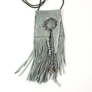 Artisan Hand Stitched Soft Leather Keepsake Bag